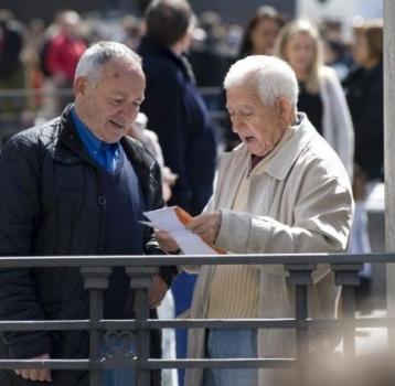 Dos trabajadores por cada pensionista