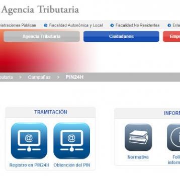 APLICACIÓN PARA EL MOVIL – AGENCIA TRIBUTARIA – PIN24H